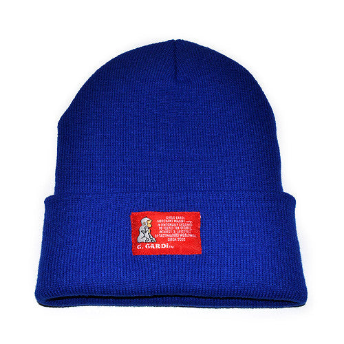"The ""Motto"" Knit Cap (Royal Blue) - CHRiS CARDi House of Design"