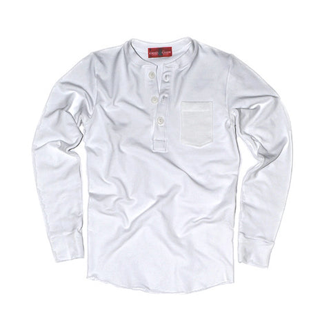 Sweatshirt Henley (White) - CHRiS CARDi House of Design