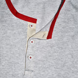 Wrigley Short Sleeve Henley (Grey/Red) - CHRiS CARDi House of Design