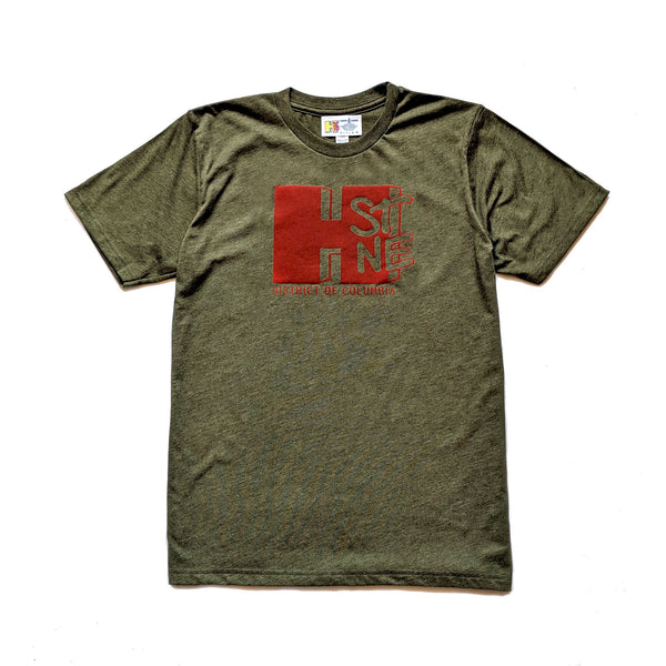 H Street Nostalgia Tee (Heather Army/Red)