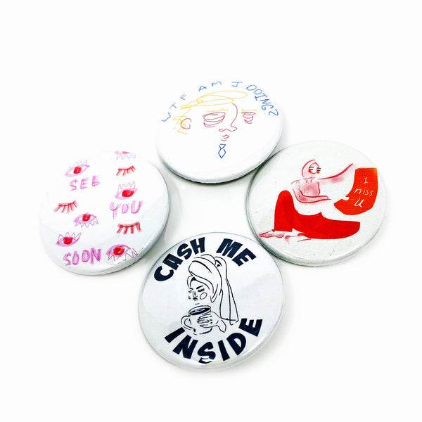 CocoaJoJoe for CHRiS CARDi Towel & Tea Button Set - CHRiS CARDi House of Design