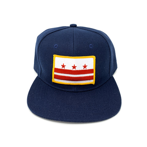 D.C. Capital Crown Snapback Cap (Navy Blue) - CHRiS CARDi House of Design