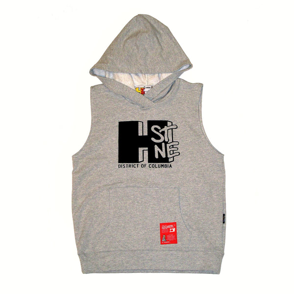 H Street Sleeveless Sweatshirt Hoodie (Grey) - CHRiS CARDi House of Design