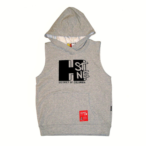 H Street Sleeveless Sweatshirt Hoodie (Grey)