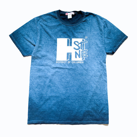 H Street Nostalgia Tee (White/Navy Wash) - CHRiS CARDi House of Design