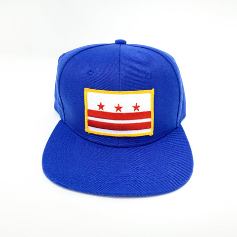 D.C. Capital Crown Snapback Cap (Royal Blue) - CHRiS CARDi House of Design