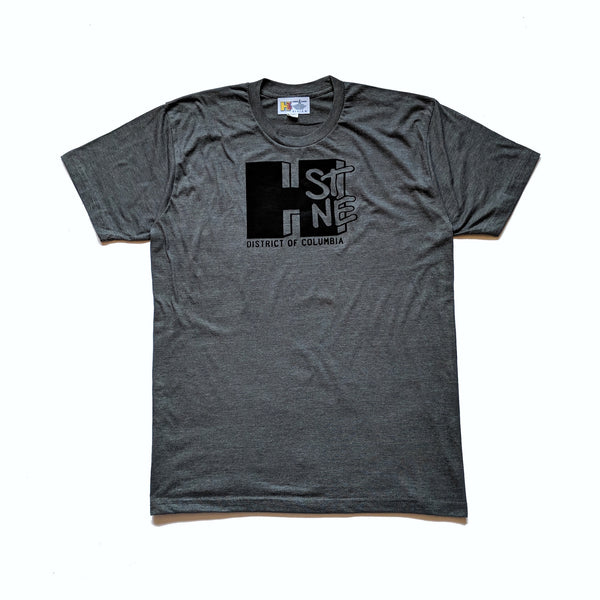 H Street Nostalgia Tee (Asphalt/Black) - CHRiS CARDi House of Design