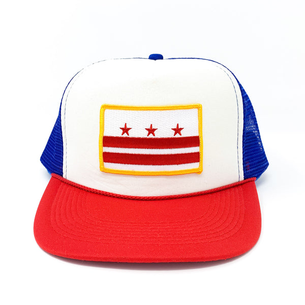 D.C. Capital Crown (Red, White, Blue) Trucker - CHRiS CARDi House of Design