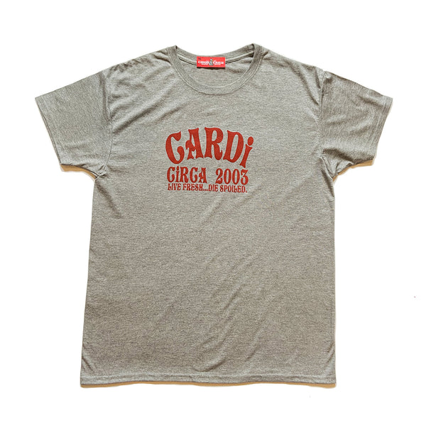 CARDi Signature Tee (Grey/Red)