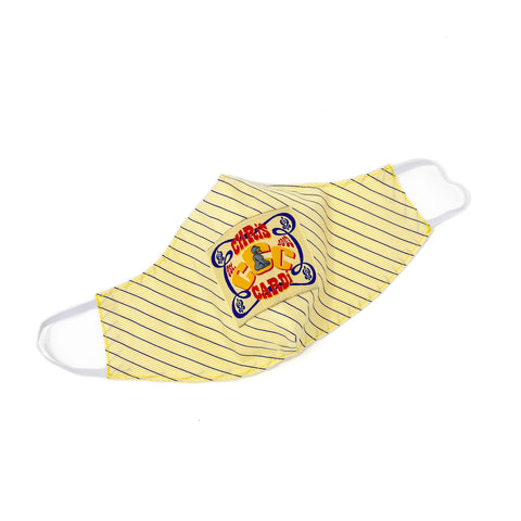 C. CARDi RETRO PATCH S.R.E. MASK (Yellow/White/Navy) - CHRiS CARDi House of Design