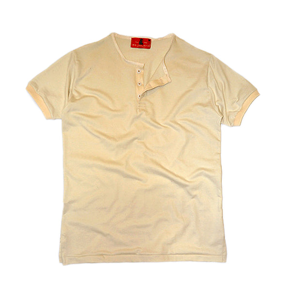 Wrigley Short Sleeve Henley (Albino) - CHRiS CARDi House of Design
