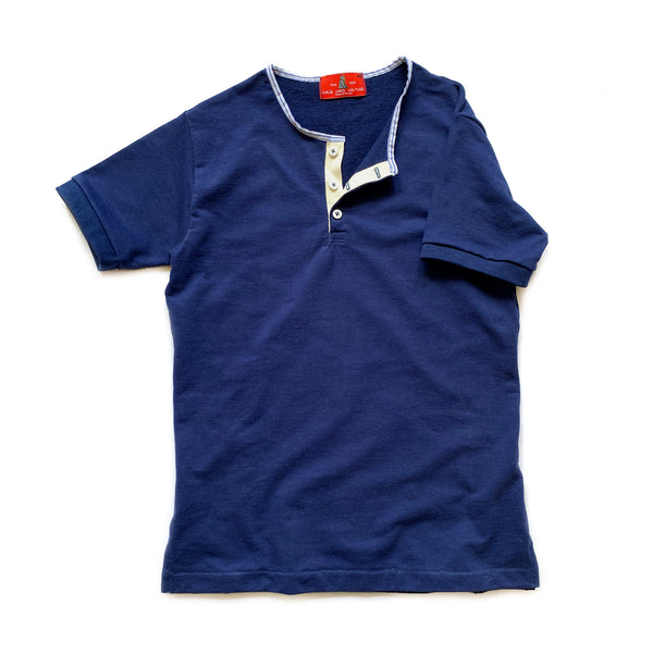 Wrigley Short Sleeve Henley (Navy) - CHRiS CARDi House of Design