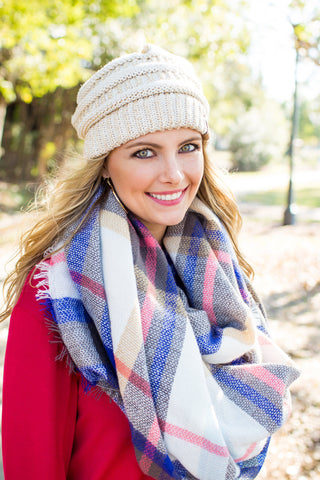 A Touch of Blue Blanket Scarf