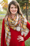 All the Colors of Fall Blanket Scarf
