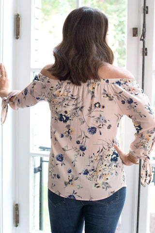Blushing Florals Off-Shoulder Top
