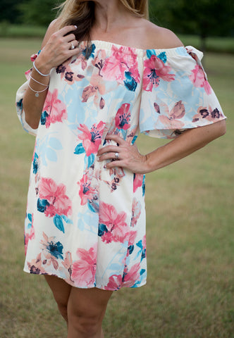 Floral Off-Shoulder Cali Dress