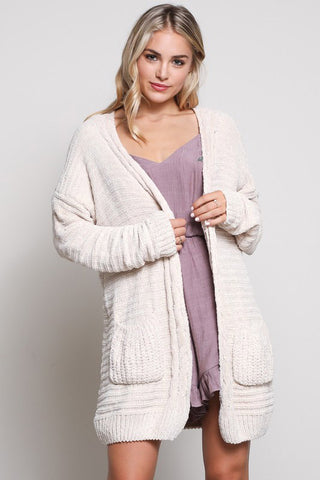 Cream Pen Sweater Cardi