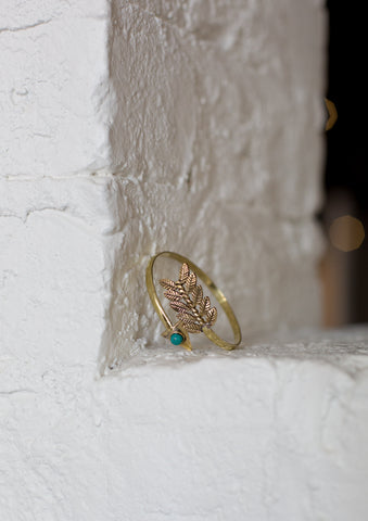 Gold & Teal Arrow Bracelet