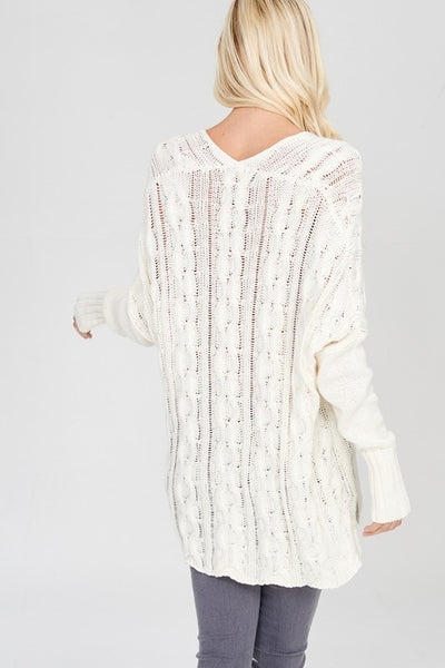 Cozy Cable Knit Sweater Stitchbee