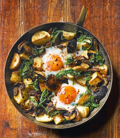 #RecipeSaviours: Baked Eggs With Mushrooms, Potatoes, Spinach And Gruyère