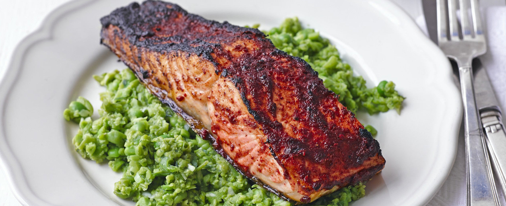 #RecipeSaviours: Spiced Grilled Salmon With Pea And Mint Mash