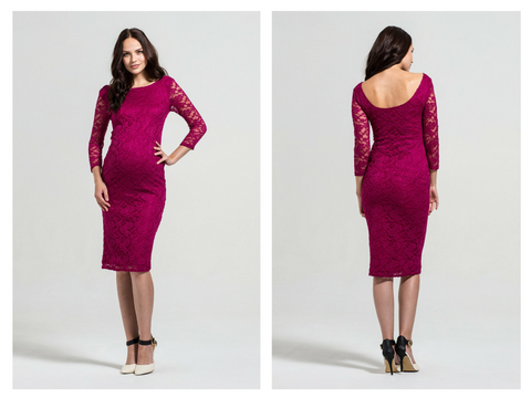 a75ad0665a Go a little darker in this Rock-a-Bye Rosie Berry lace bodycon dress ( Debenhams