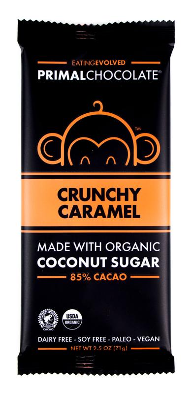 Organic Crunchy Caramel Chocolate Bar