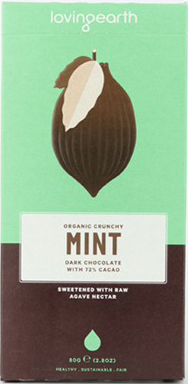 Crunchy Mint Dark Chocolate Bar