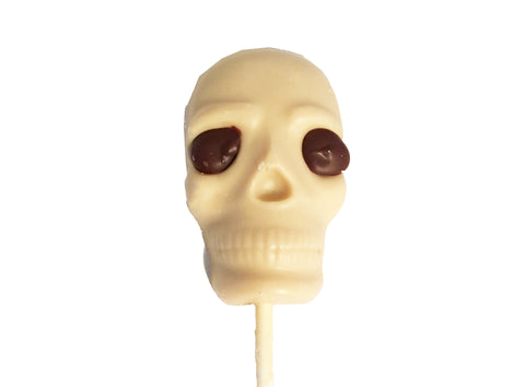 White Chocolate Skull Lollipops