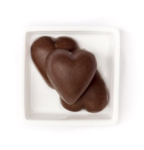 No Sugar 'Milk' Chocolate Hearts