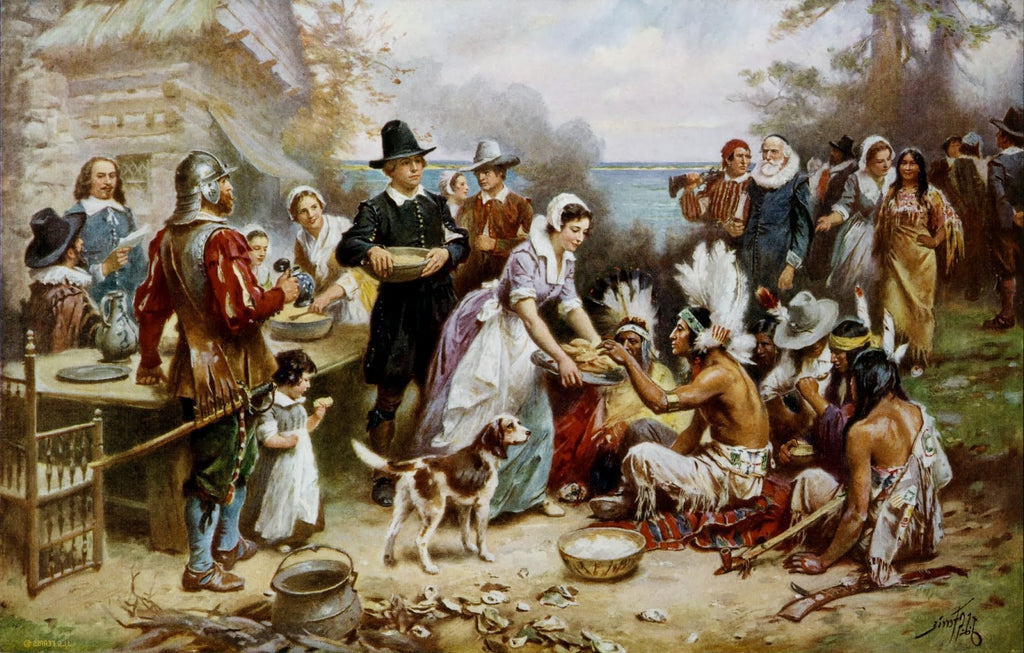 vintage photo of first Thanksgiving