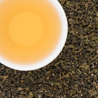 Green Pearls of Agni Organic Loose Leaf Green Tea with Pure Lightly Smoked notes
