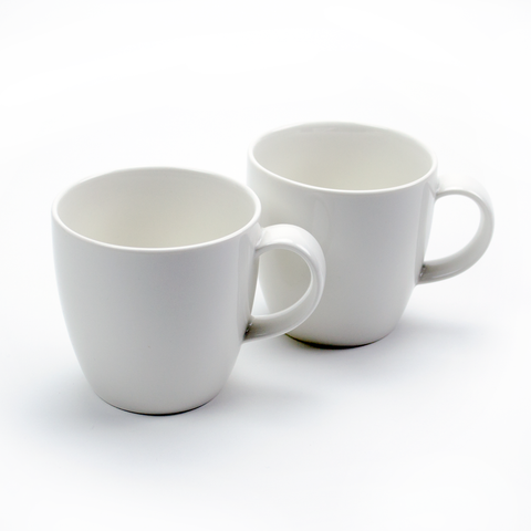 Beautiful Heavy 11-Ounce Ceramic Tea Cups - Set of Two - On sale for $16