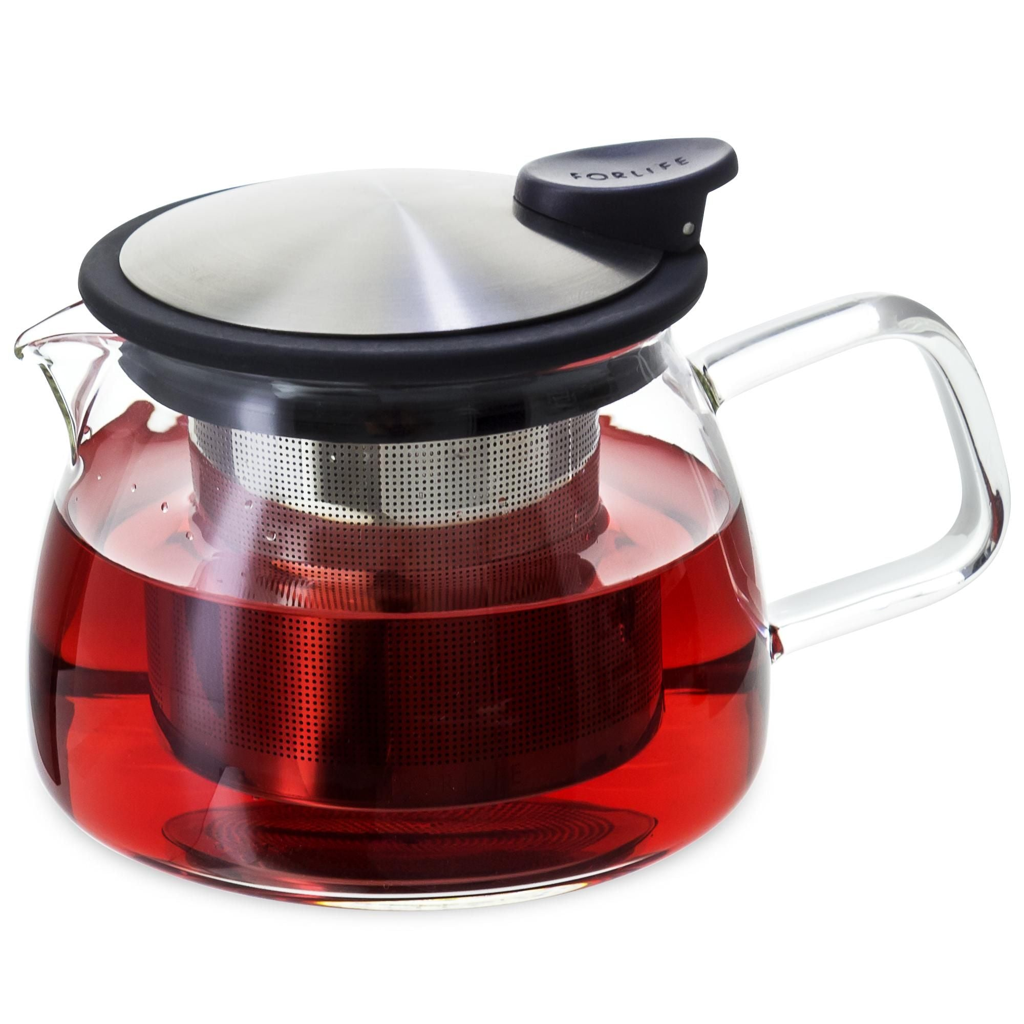 Bell Glass Tea Pot loose leaf tea infusion