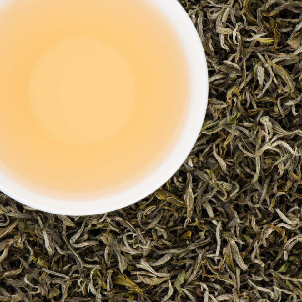 Jade Spring Organic Loose Leaf White Tea with Sweet Vegetal notes