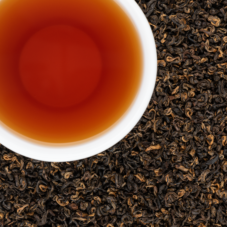 Khumbu Organic Loose Leaf Black Tea with Deep Amber Malty Nutty notes