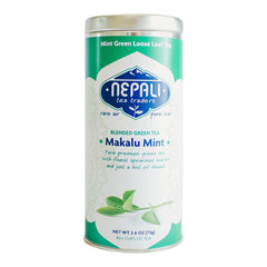 Makalu Mint Green Tea Blend - Full Leaf Organic Green Tea | Spearmint | Fennel
