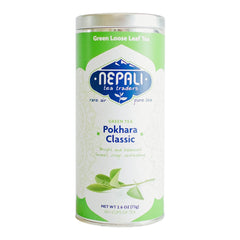 Pokhara Classic Organic Loose Leaf Green Tea Retail Tin