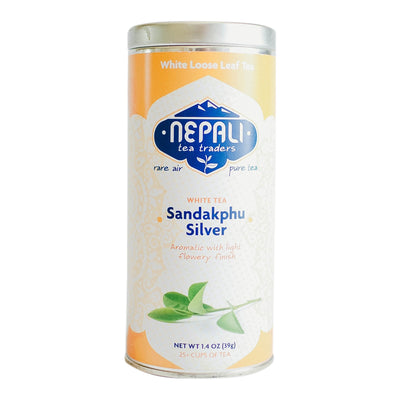 Sandakphu Silver Organic Loose Leaf White Tea Retail Tin