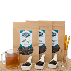 Tea Lover's Surprise | 3 Large Pouches Of Our Most Popular Black Teas And Honey Sticks