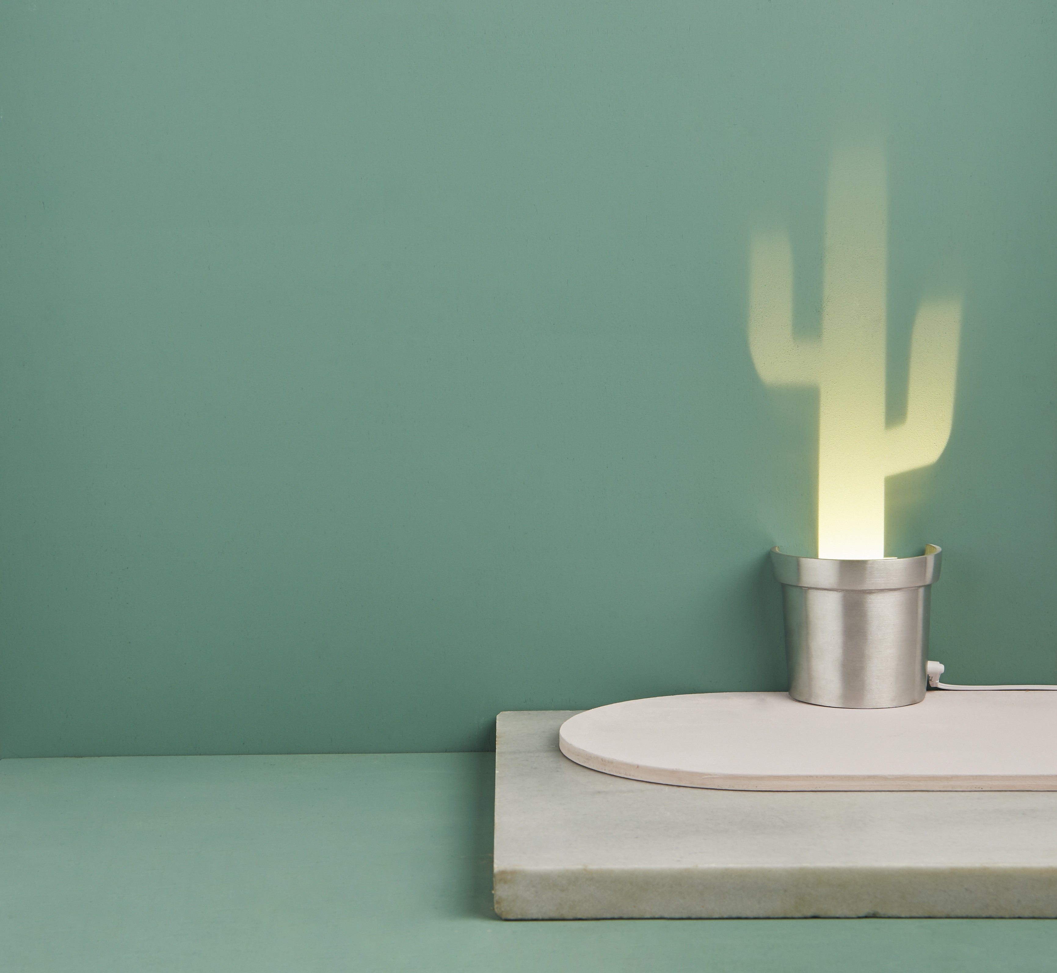 A Single Lamp Made Aluminum Containing 3 Different Cactus Shapes ...