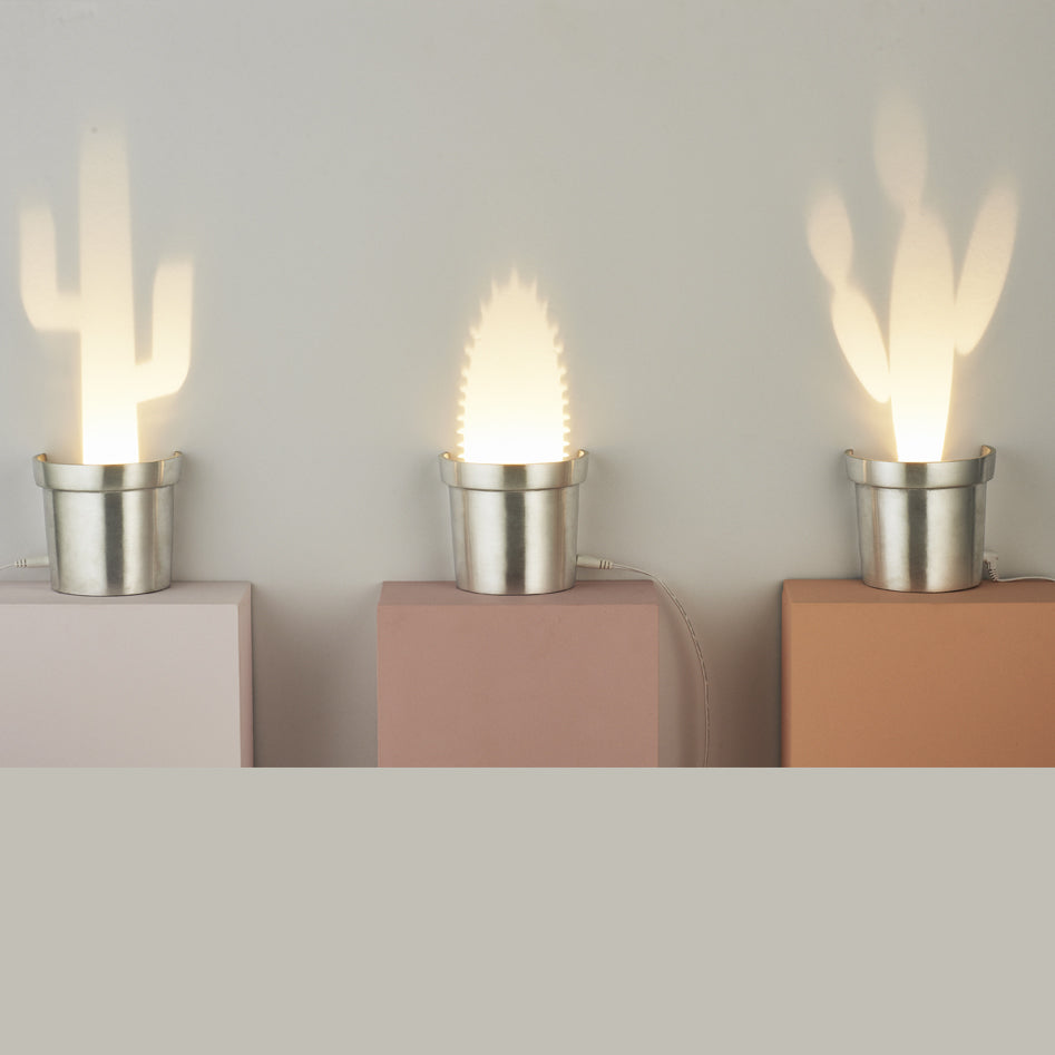 A Set of Three Cactus Lamps in Three Different Shapes