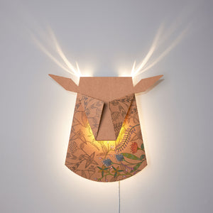 Colors Cardboard Deer Head LED light fixture