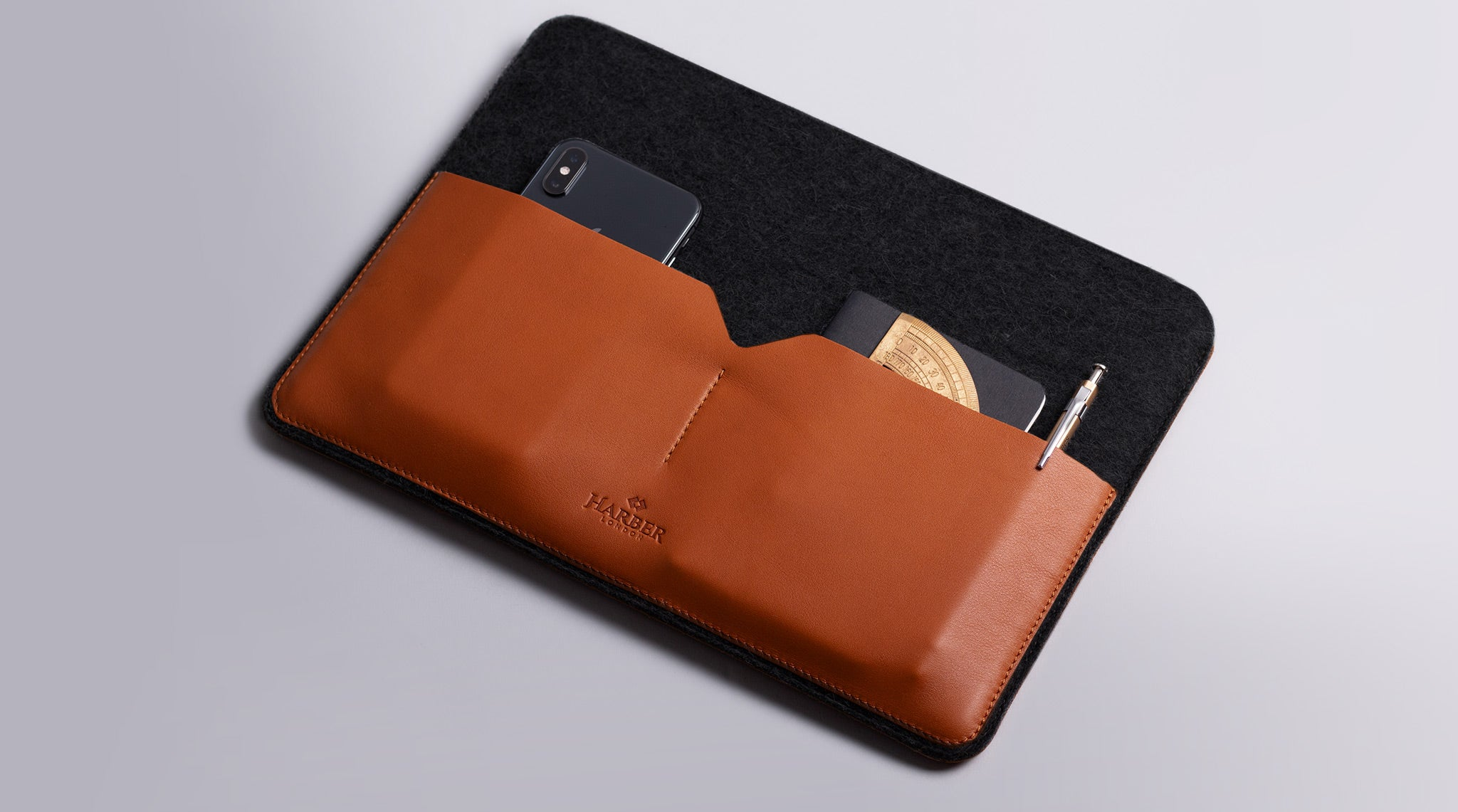 Leather Macbook sleeve case