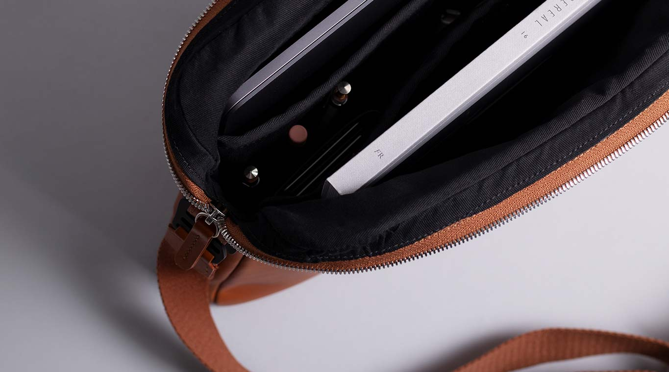 Leather Messenger Bag for MacBook