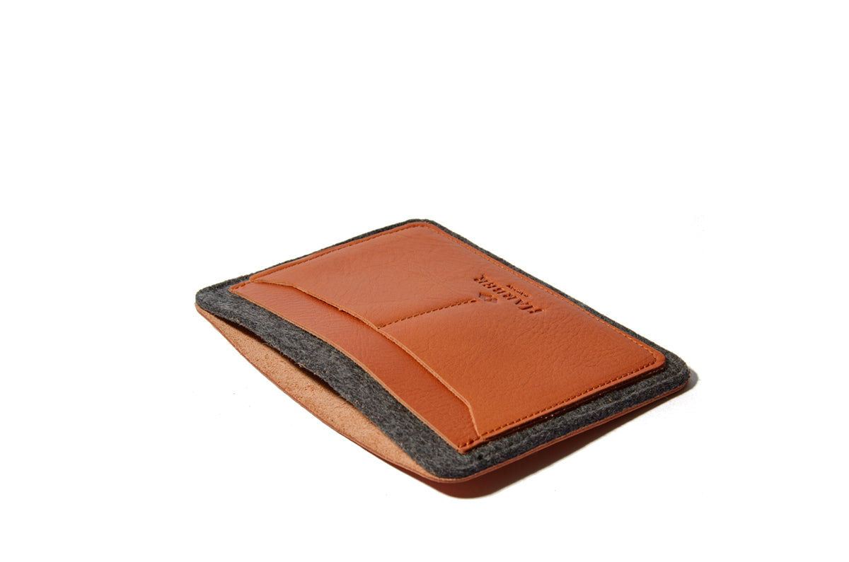 Harber London Flat Leather Passport Wallet Case Holder