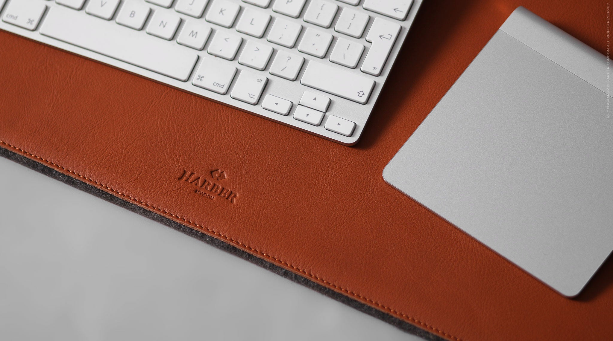 Leather and felt desk mat
