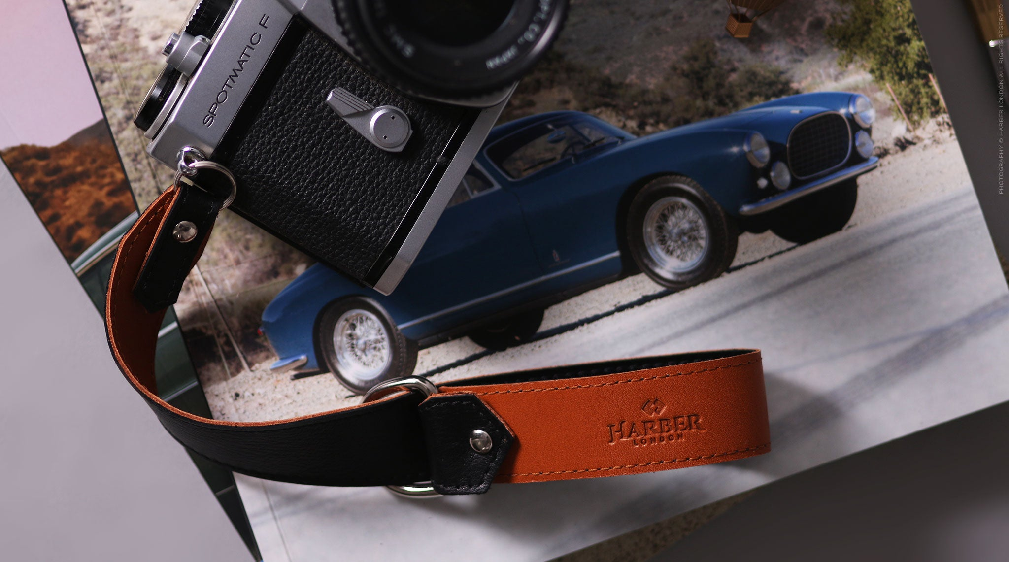Leather slide camera strap