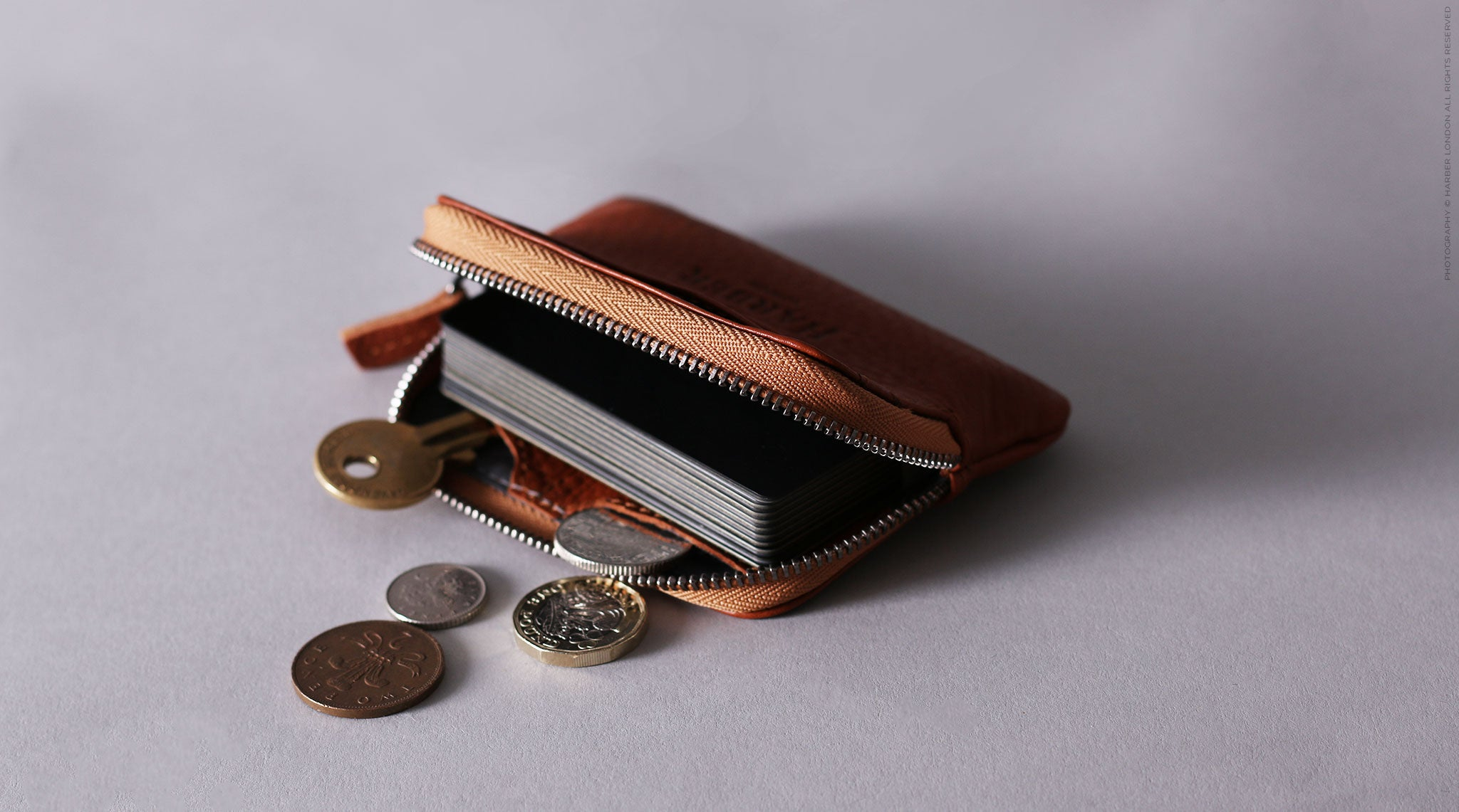 Slim Leather Zip Pouch