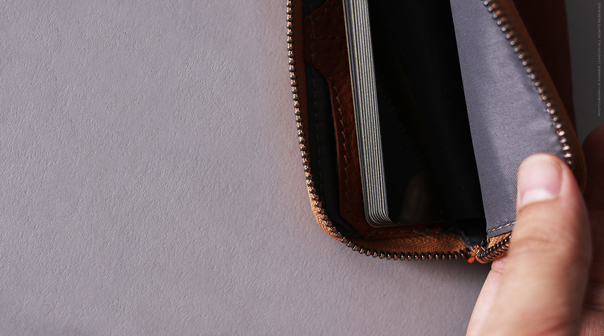 leather zip coin wallet
